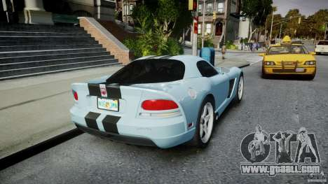 Dodge Viper SRT-10 for GTA 4 side view