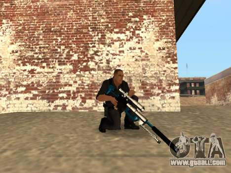 Chrome and Blue Weapons Pack for GTA San Andreas tenth screenshot