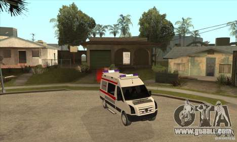 Volkswagen Crafter Ambulance for GTA San Andreas back view