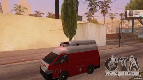 Toyota Hiace Philippines Red Cross Ambulance for GTA San Andreas left view