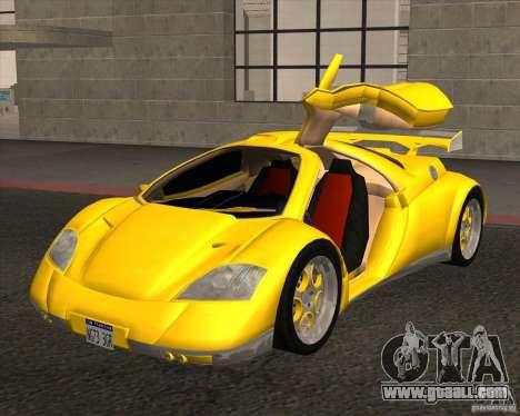 Conceptcar Nimble for GTA San Andreas back left view