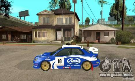 Subaru Impreza STi WRC wht1 for GTA San Andreas back left view