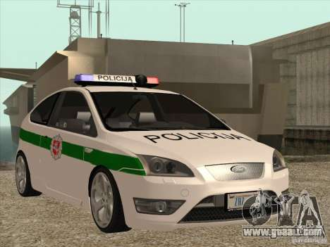 Ford Focus ST Policija for GTA San Andreas inner view