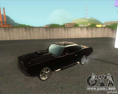 Plymouth Barracuda for GTA San Andreas left view
