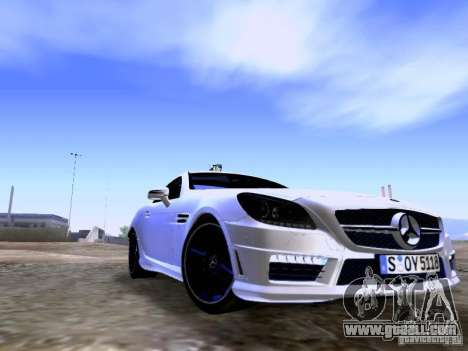 Mercedes-Benz SLK55 AMG 2012 for GTA San Andreas back left view