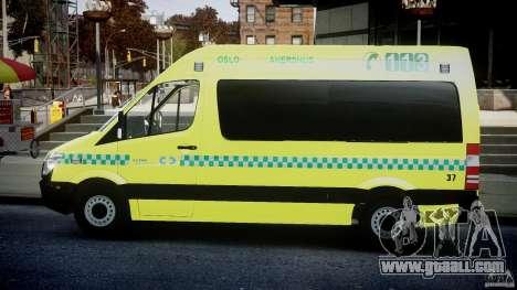 Mercedes-Benz Sprinter PK731 Ambulance [ELS] for GTA 4 left view