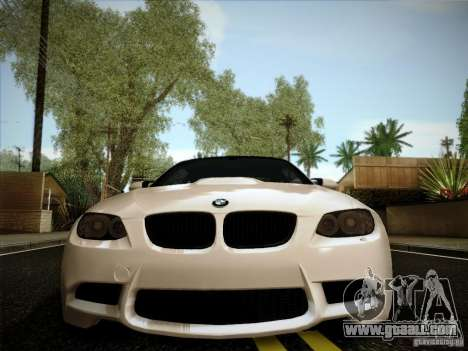 BMW E92 v2 Updated for GTA San Andreas back view