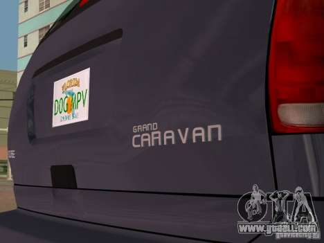 Dodge Grand Caravan for GTA Vice City right view