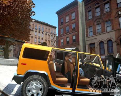 Hummer H2 2010 Limited Edition for GTA 4 inner view