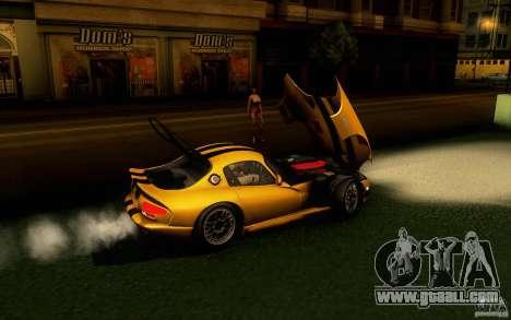 Dodge Viper GTS Coupe TT Black Revel for GTA San Andreas back left view