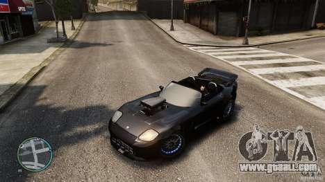Blue Neon Banshee for GTA 4 back view