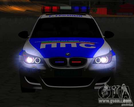 BMW M5 E60 Police for GTA San Andreas side view