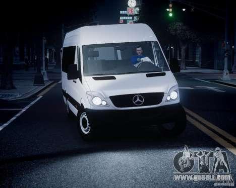 Mercedes-Benz Sprinter Long for GTA 4 upper view
