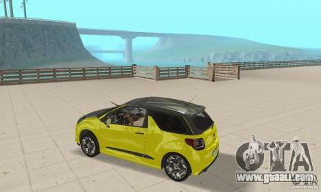 Citroen Ds3 Sport 2011 for GTA San Andreas right view