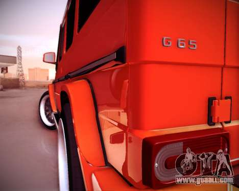 Mercedes-Benz G65 AMG 2013 Hamann for GTA San Andreas interior