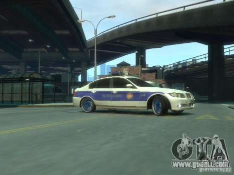 BMW 320i Police for GTA 4 left view