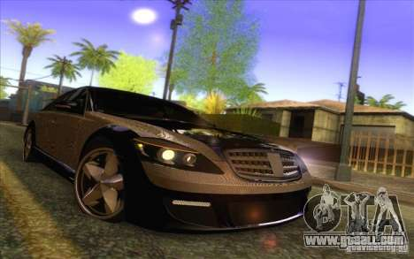 Mercedes-Benz S600 AMG WCC Edition for GTA San Andreas upper view