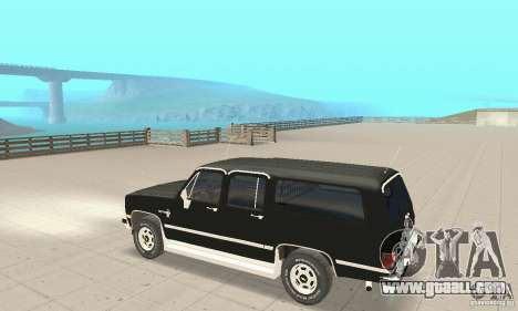 Chevrolet Suburban FBI 1986 for GTA San Andreas back view
