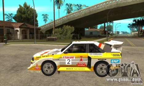 Audi Quattro S1 Group B for GTA San Andreas left view