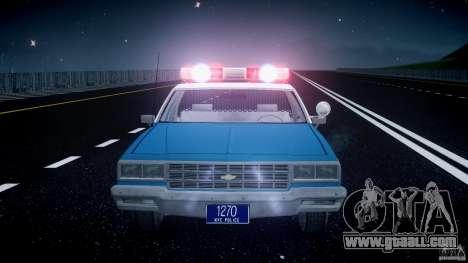 Chevrolet Impala Police 1983 v2.0 for GTA 4 interior