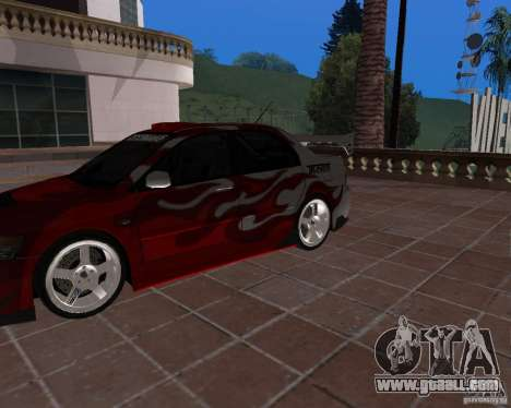 Mitsubishi Lancer Evolution VIII for GTA San Andreas back view
