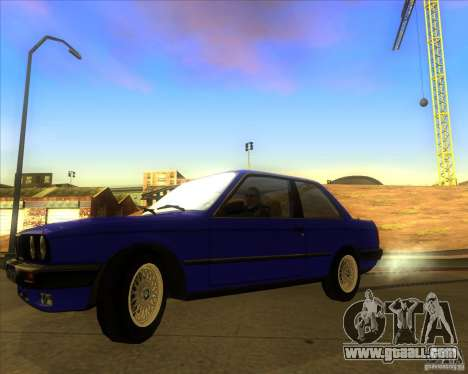 BMW E30 323i for GTA San Andreas back left view