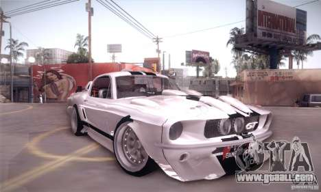 Shelby GT500 for GTA San Andreas right view