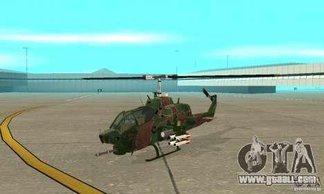 AH-1 super cobra for GTA San Andreas left view