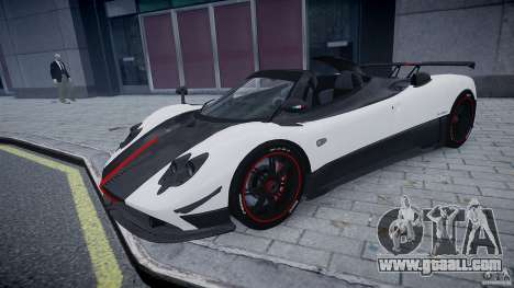 Pagani Zonda Cinque Roadster for GTA 4 left view