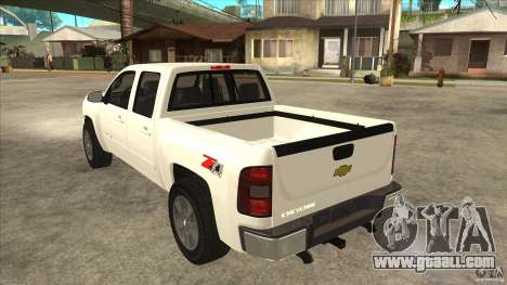 Chevrolet Cheyenne 2011 for GTA San Andreas back left view