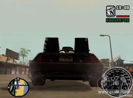 Crysis Delorean BTTF1 for GTA San Andreas left view