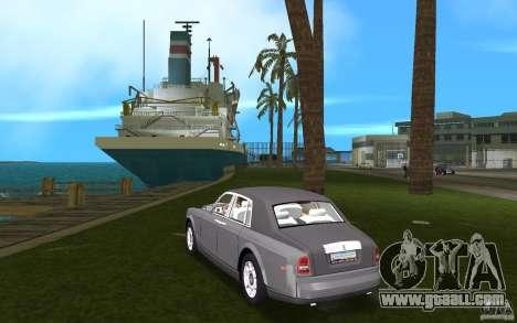 Rolls Royce Phantom for GTA Vice City back left view
