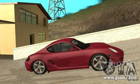 Porsche Cayman S for GTA San Andreas left view