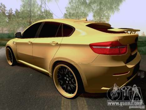 BMW X6M Hamann for GTA San Andreas upper view