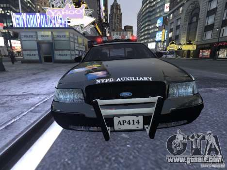 Ford Crown Victoria NYPD Auxiliary for GTA 4 left view