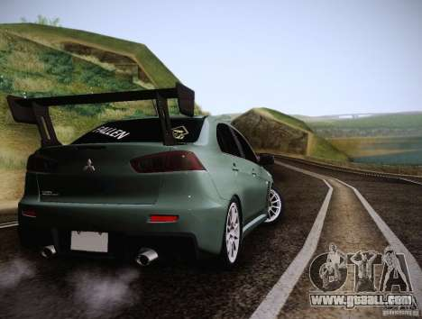 Mitsubishi Lancer Evolution Drift Edition for GTA San Andreas right view
