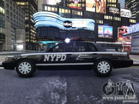 Ford Crown Victoria NYPD Auxiliary for GTA 4 back view