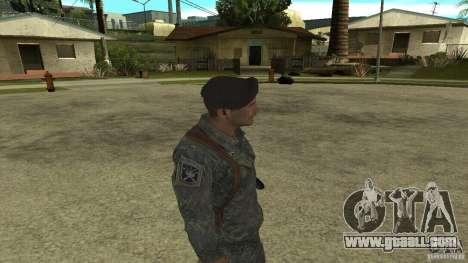 Shepard of CoD MW2 for GTA San Andreas forth screenshot