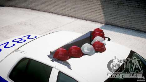 Ford Crown Victoria NYPD for GTA 4 bottom view