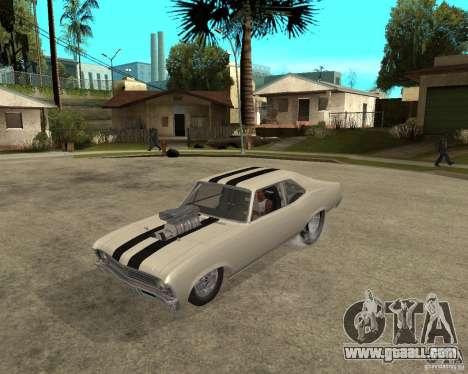 1969 Chevrolet Nova ProStreet Dragger for GTA San Andreas