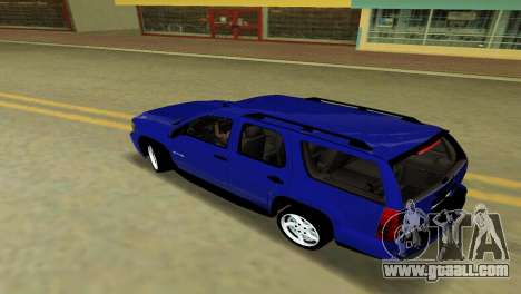 Chevrolet Tahoe 2011 for GTA Vice City back view