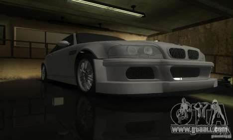 BMW M3 Tuneable for GTA San Andreas inner view