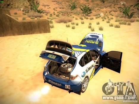 Subaru impreza Tarmac Rally for GTA San Andreas upper view