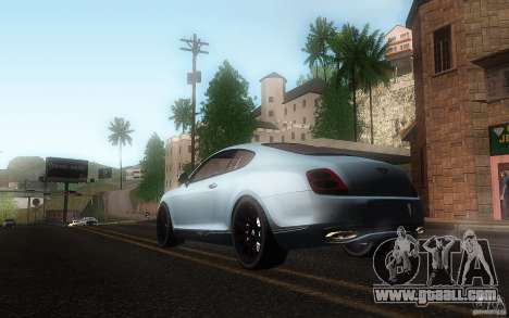 Bentley Continental SS for GTA San Andreas inner view