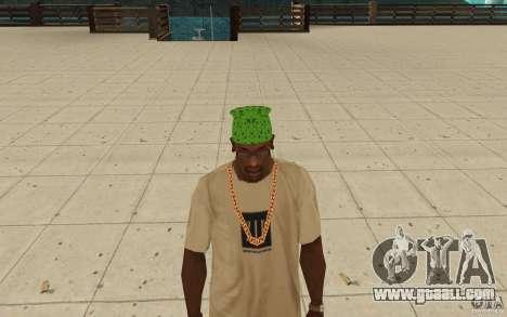 Bandana green maryshuana for GTA San Andreas