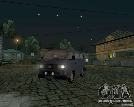 Volkswagen Transporter T3 for GTA San Andreas inner view