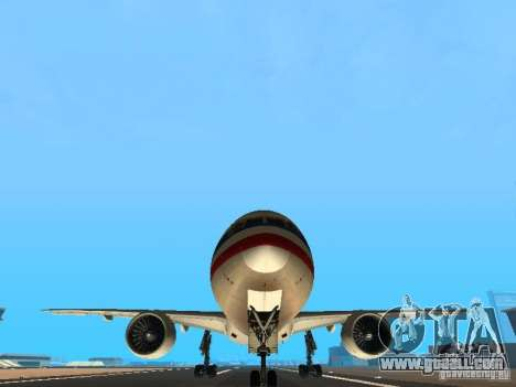 Boeing 777-200 American Airlines for GTA San Andreas side view