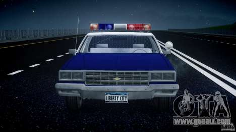 Chevrolet Impala Police 1983 for GTA 4 bottom view