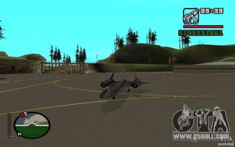 SR-71 Blackbird for GTA San Andreas right view