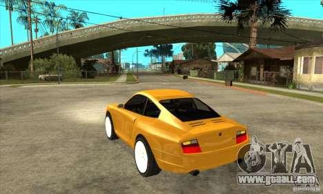 GTA IV Comet for GTA San Andreas back left view